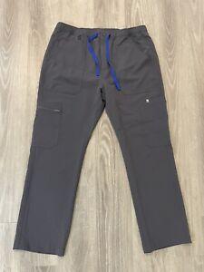 Figs Men's Large (Short Inseam) Gray Cairo Cargo Scrub Pants