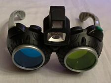 Spy Gear Glasses by Toys R Us Green & White Lights Plastic Black Frames Powered