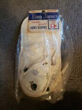 Vintage 1950's Women's Slippers Scuffies King James Large 8-9, white