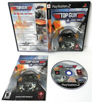 TOP GUN COMBAT ZONES SONY PLAYSTATION 2 GAME DISC MANUAL CIB COMPLETE PS2 TESTED