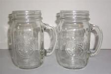2 Golden Harvest Glass Drinking Jars -081305