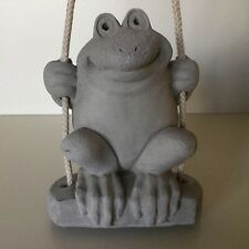Accents Unlimited // Frog On A Swing ~ Solid Plaster // Marked // Circa 1997