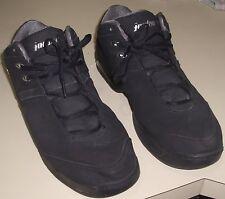 Excellent Rare NIKE JORDAN TEAM REIGN LOW Black/Silver 312503-001 Size 14