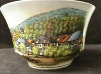 Vintage Schonwald Germany Cup Town Square Scene Gold Trim