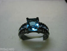 Black Gold Filled Size 8 Woman's Ring with 2.37ctw Cubic Zirconia