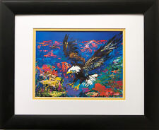 "LeRoy Neiman ""American Bald Eagle"" New FRAMED  Print Patriotic Aviary USA Animal"