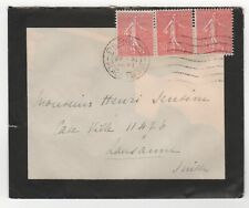 1927 FRANCE Cover PARIS Place Chopin to LAUSANNE SWITZERLAND Mourning Envelope
