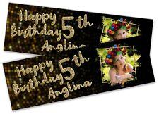 X2 Banner Cumpleaños Personalizada Cualquier Imagen Texto Niño Adulto Fiesta Decoración 54