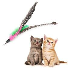 Pet Cat Kitten Toy Teaser Wand Stick Refill Feather Replacement With Bell