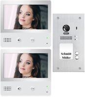 Domo Video-Sprechanlage 4-Familien-Set Türsprechanlage Innenstation Netzgerät