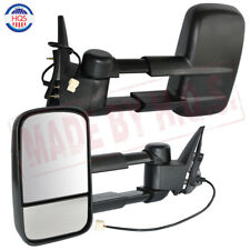 Black Extendable Caravan Towing Mirrors For 98-07 Toyota Landcruiser 100 Series