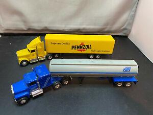 Ertl Papi Transfer Tractor Truck w Tanker Trailer & Pennzoil 1/64 Diecast Lot