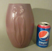 "Antique ARTS & CRAFTS Pottery ZANESVILLE Matte Lavender Purple # 101 Vase 8.5"""