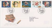 GB ROYAL MAIL FDC FIRST DAY COVER 1997 CHRISTMAS CRACKERS STAMP SET BUREAU PMK