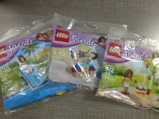 Lego Friends 3 Polybags 30107 30400 30401 Gymnastics Pool Foam Slide Bday Party