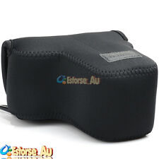 Neoprene Soft Camera Case Bag Pouch For Sony NEX-6 7 5T A6000 18-55mm Lens Black