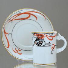 Meissen: Mokkatasse Feuervogel, Art Déco, Jugendstil, Espressotasse, Tasse, cup
