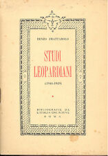 Frattarolo: Studi leopardiani  1940 1949