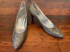Bruno Magli Silver Sparkling Heels, Size 11