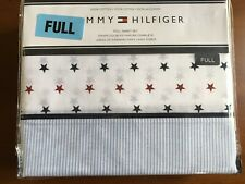 Tommy Hilfiger Full Sheet Set Blue Red Stars & Stripes  Patriotic NEW Cotton