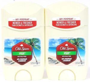 2 Old Spice FIJI With Palm Tree Coconuts Antiperspirant Deodorant 1.7 oz