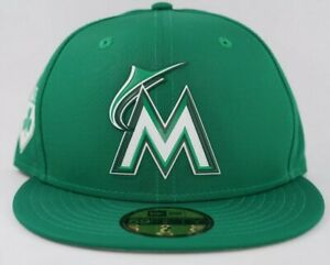 New Era Miami Marlins 59Fifty 5950 MLB 2018 St Patricks Day Green Fitted Hat Cap