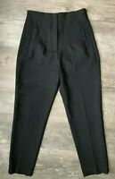 NWOT Zara High Waisted Tapered Trouser Pants Size S Black