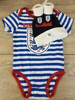 ENGLAND Football Team Stripe 3 Piece Set Baby 9-12 Months Kids Cute Gift B351-10
