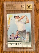 2014 SP GAME USED SPECTRUM AUTOGRAPHS RETRO ROOKIES RORY McILROY RC /25 BGS 9.5