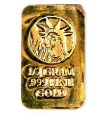 1/2 Gram .999 Fine 24k Gold Bullion Bar - In Assay Card
