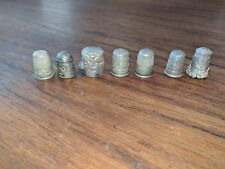 Sterling silver thimbles Lot