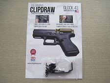 ClipDraw Concealed Carry IWB Belt Clip Draw Holster Glock 43 Handgun