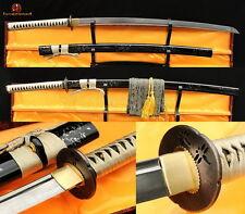 New Japanese Samurai Sword Katana Damascus Full Tang Folded Steel Sharp Blade