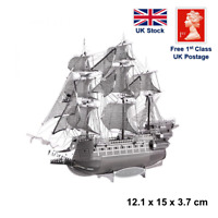 The Flying Dutchman pirate sailing ship boat 3D Laser Cut Metal Model Kit Puzzle