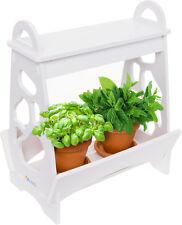 Mindful Design White LED Indoor At Home Mini Planter Herb Garden Kit w/ Timer