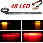 Flexible Motorcycle 48 LED Lamp Strip Rear Tail Brake Stop Turn Signal