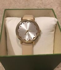 Kate Spade Metro Vachetta Gold Champagne Watch Crystals $225 Gift Box