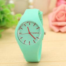 Montre femme Geneve Quartz Bracelet Silicone Top Vente Fadhion Women Watch