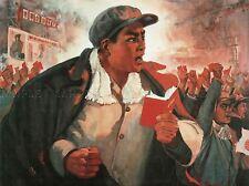 Propaganda COMUNISMO CINA MAO RIVOLUZIONE LIBRO ROSSO poster art print bb2380a