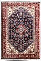 Indian Handmade Blue Red 'Ruhasa' Hand Knotted Carpet Wool Oriental Rug 5x7 ft