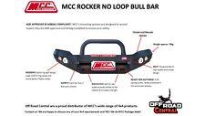 MCC 4X4 SINGLE LOOP ROCKER BULL BAR, NISSAN NAVARA NP300 2015 - ON, ADR, 4WD