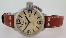 TW Steel Genuine Leather Band Quartz (Battery) Wristwatches