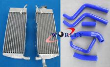 aluminum radiator & silicone hose blue for Honda CR250 CR250R 88 89 1988 1989