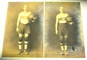 """Two Photos Vintage Basketball Players 1920-1921 Forest & Roland Lancaster 4 x 6"""""""