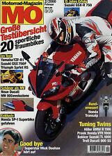 mo 2/00 2000 Cagiva Mito Ducati MH 900 Suzuki GSX-R 750 Kawasaki ZZ-R 600 Yamaha