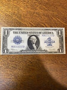 United States 1923 $1 One Dollar Large Silver Certificate Note Blue Seal
