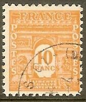 "FRANCE TIMBRE STAMP N°629 "" ARC DE TRIOMPHE 10F "" OBLITERE TB"
