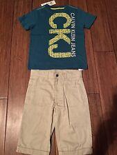 Calvin Klein 2 Piece Boys Shorts Set Size 6 Years Old