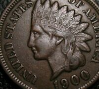 OLD US COINS 1900 INDIAN HEAD CENT PENNY FULL LIBERTY BEAUTY