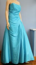 Kelsey Rose Turquoise Taffeta Prom Special Occasion Evening Dress Size 10